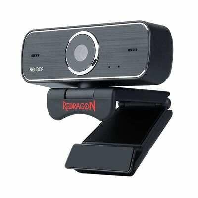 Redragon HITMAN 1080p,72 FOV,Mount Bracket,30 FPS PC Webcam - Black
