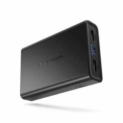 RAVPOWER 10000mAh 2x USB Power Bank - Black