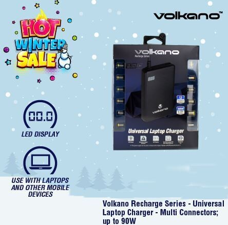 Volkano Recharge Series Universal Laptop Charger