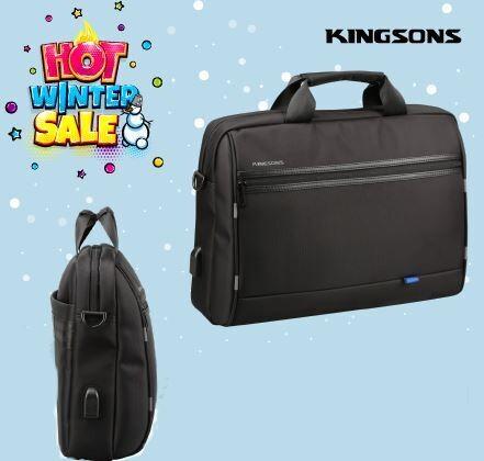 """Kingsons Global Series 15.6"""" Shoulder Bag-Black"""