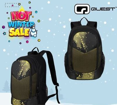 Quest Mesh Backpack Black/Yellow