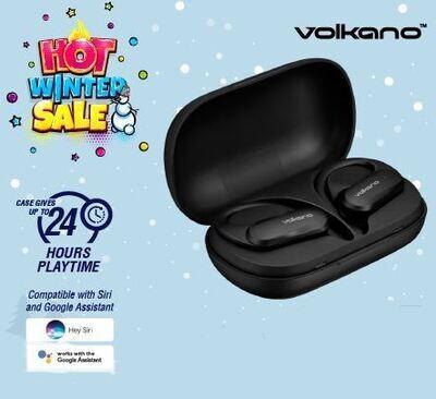 Volkano Sprint 2.0 Series True Wireless Earbuds - Black