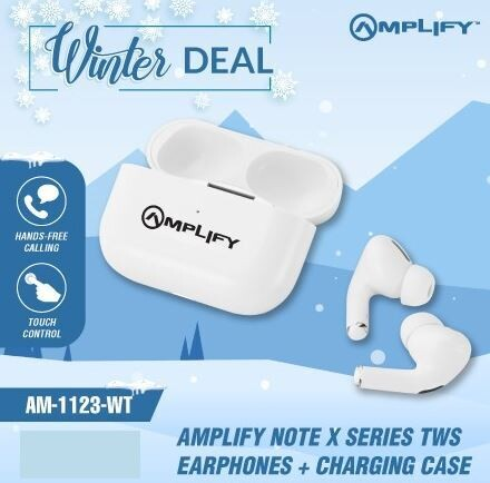 Amplify Note X Series TWS Earphones Plus Charging Case