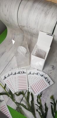 Lash Box/ Aufbewahrungsbox mit 5 Platten