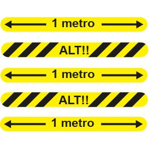 Strisce di segnalazione METRO-STOP