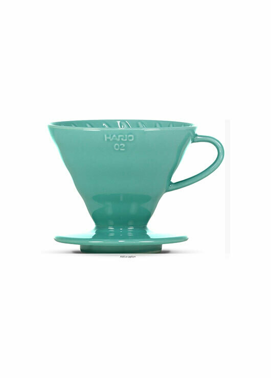 V60 dripper in turquoise