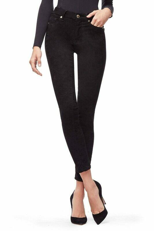 Good American- Suede-Like Black Jean
