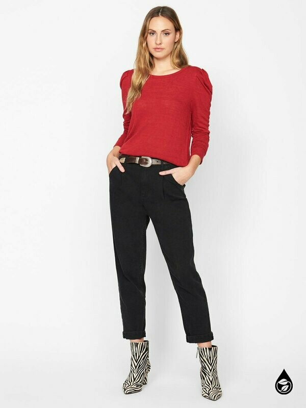 Sanctuary- Red Long Sleeve Top
