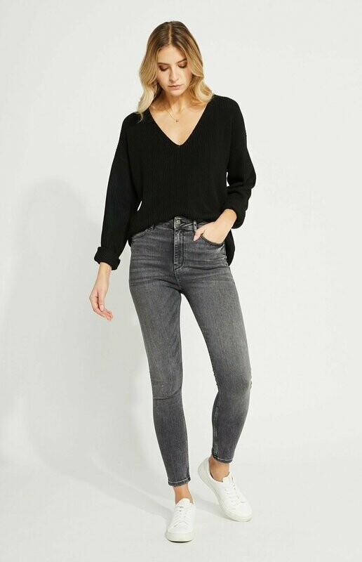 Gentle Fawn- Black Tucker Sweater