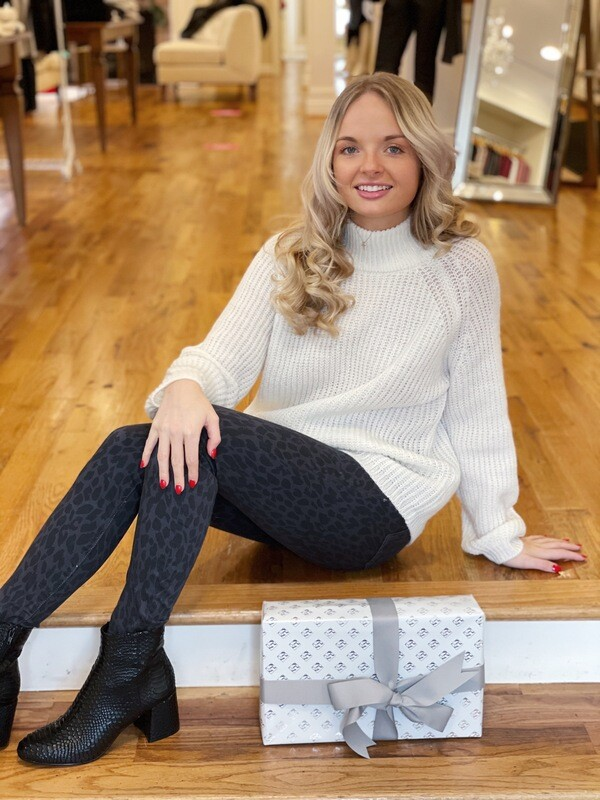 Cupcakes & Cashmere- Griffith White Sweater