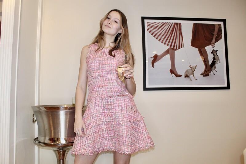 Likely- Tweed Jewel Dress