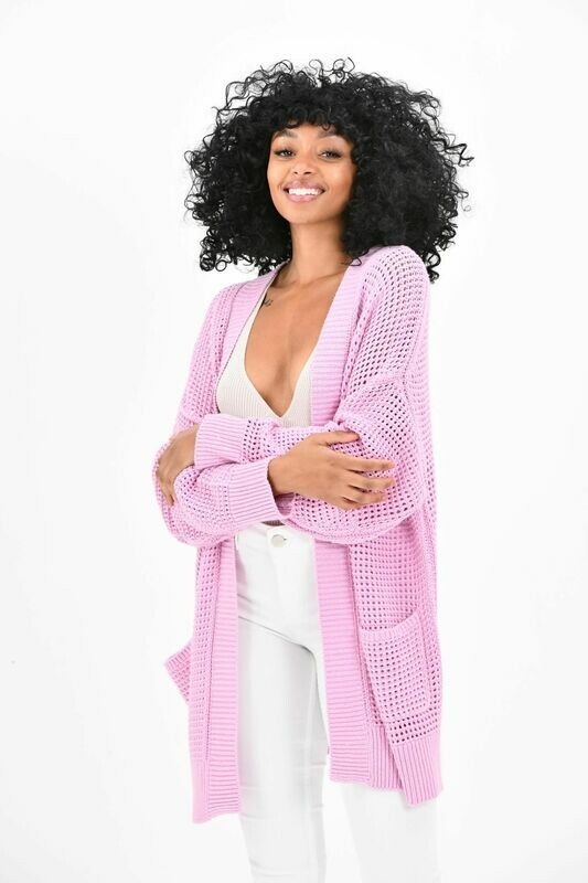 Brodie Cashmere- Polly Pointelle Cardi