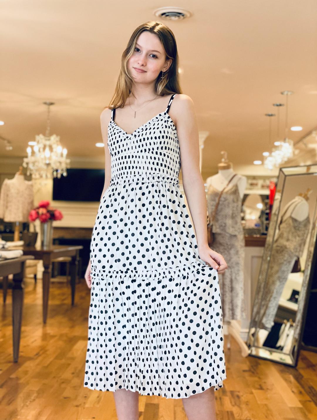 Adelyn Rae- Lola Polka Dot Dress