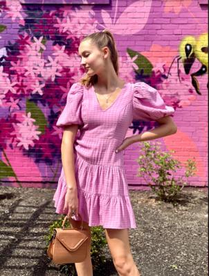 French Connection- Birch Poplin Puff Sleeve Dress