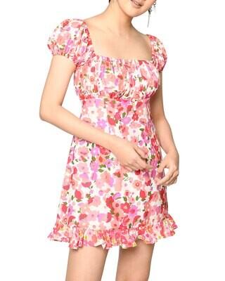 Nicole Miller- Day Dream Silk Chiffon Dress