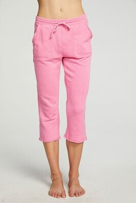 Chaser- Cropped Raw Edge Jogger