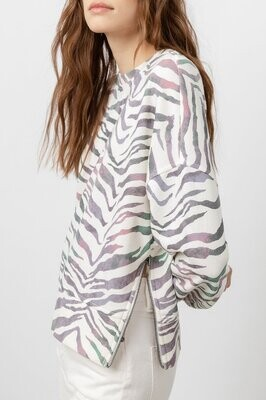 Rails- Marlo Tiger Stripe Sweatshirt