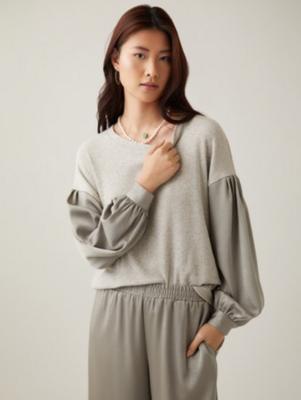 Fifteen Twenty- Satin Sleeve Pullover