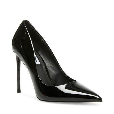 Steve Madden- Vala Black Patent Heel