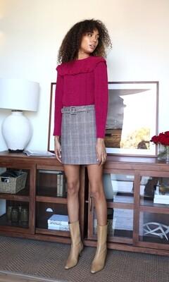 Greylin- Charles Plaid Mini Skirt