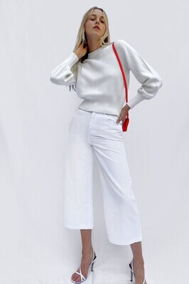 French Connection- Winter White Jamie Mozart Crewneck Sweater