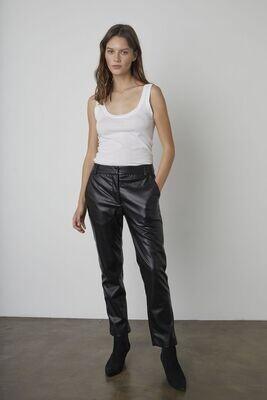 Velvet by Graham & Spencer- Honey Vegan Leather Pant
