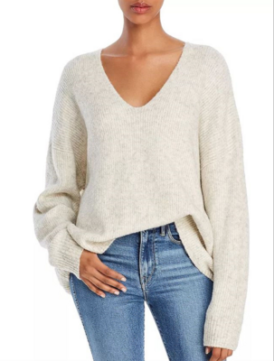French Connection- Flossy V Neck Sweater