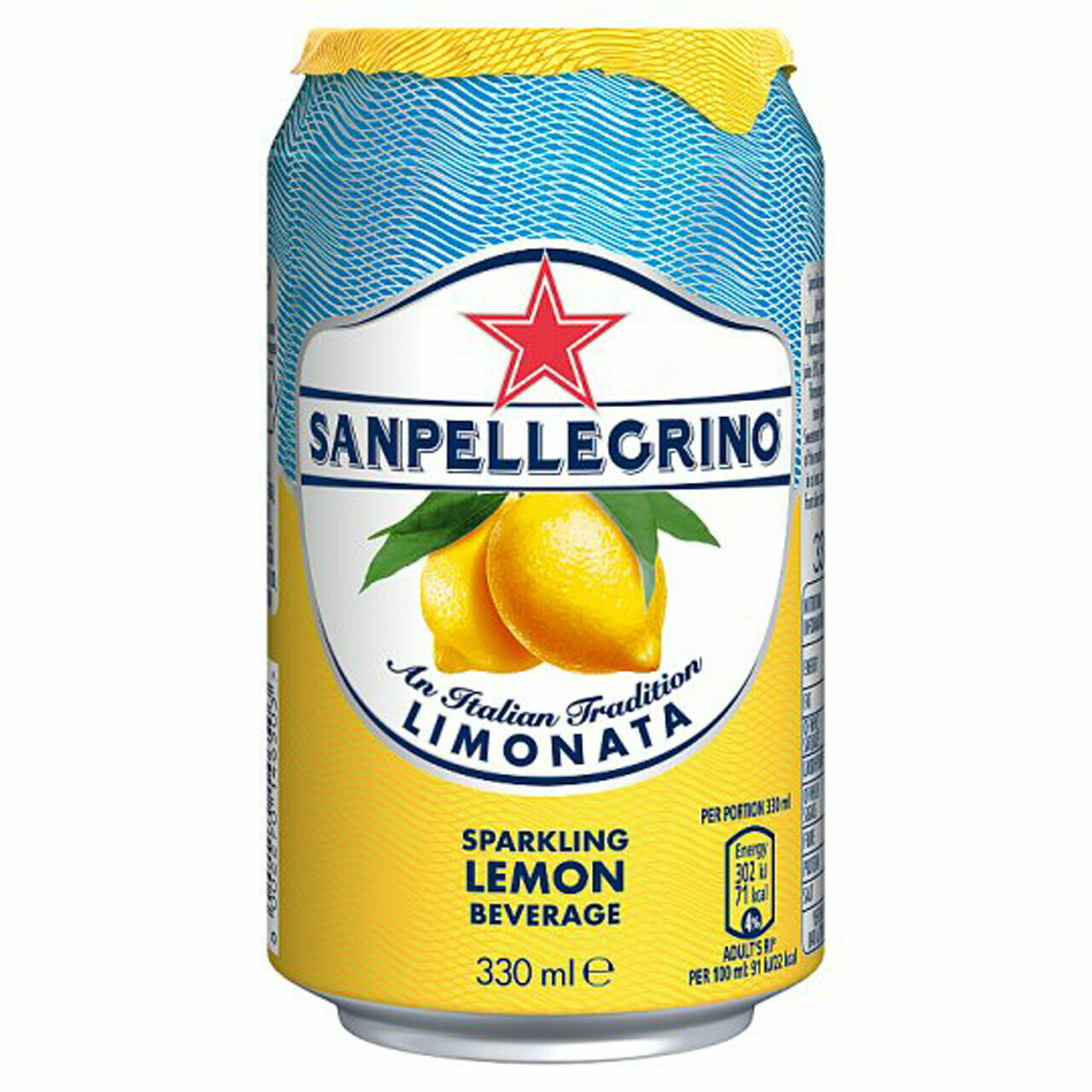San Pellegrino Can 330 ml Lemon