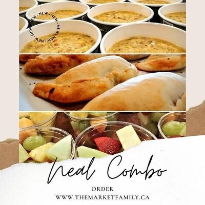 COMBO 1 - Vegan/Gluten Free Soup & Empanada & Fruit/Veggie Cup