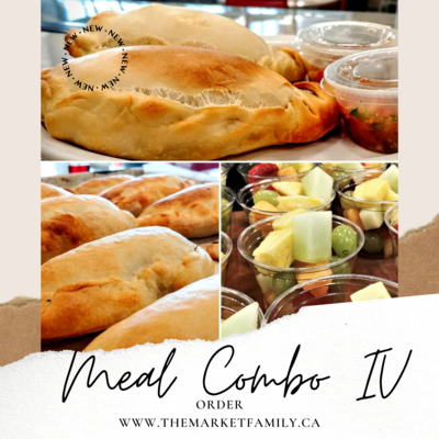 Combo 4: Two Empanadas by Choice + Fruit/Veggie Cup