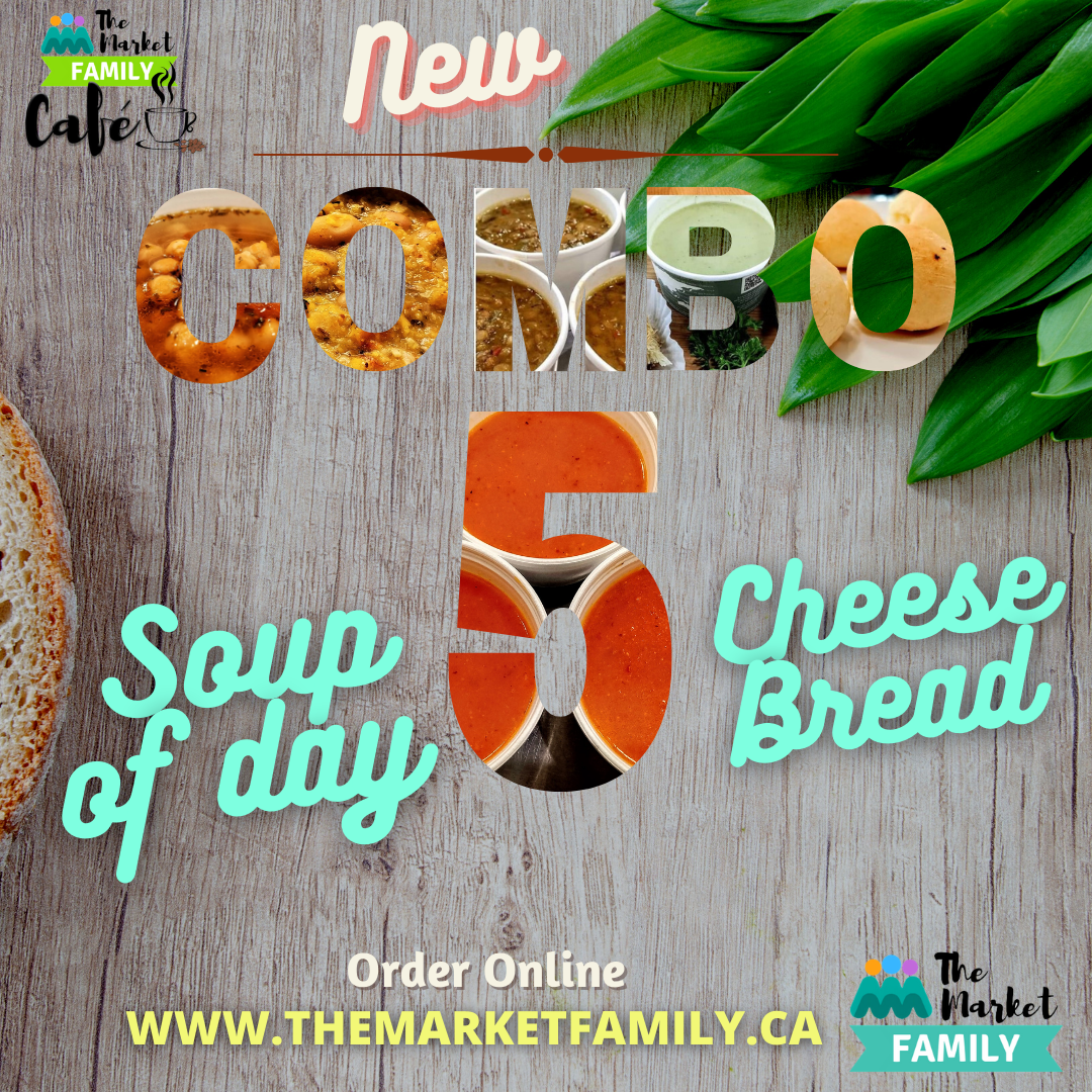 COMBO 5 - Soup 12Oz by choice (Chile)  + Cheese Bread-Balls (Brazil)