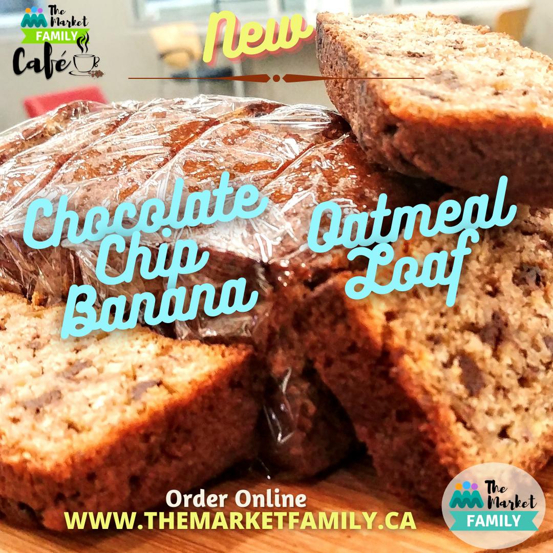 Chocolate Chip, Oatmeal & Banana Loaf (slice) - TMFC