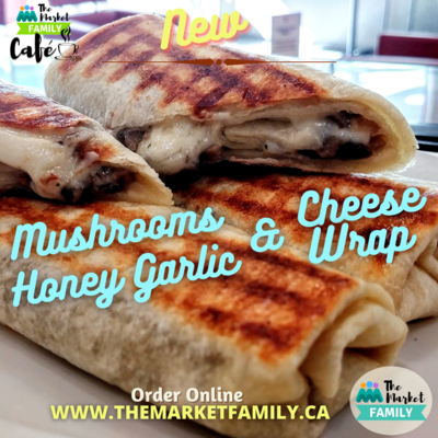 WRAP - Mushrooms, Honey, Garlic & Cheese