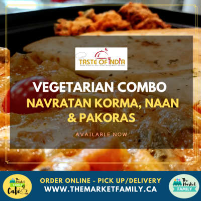 Taste of India - Vegetarian Combo - Navratan Korma, Naan &Pakoras