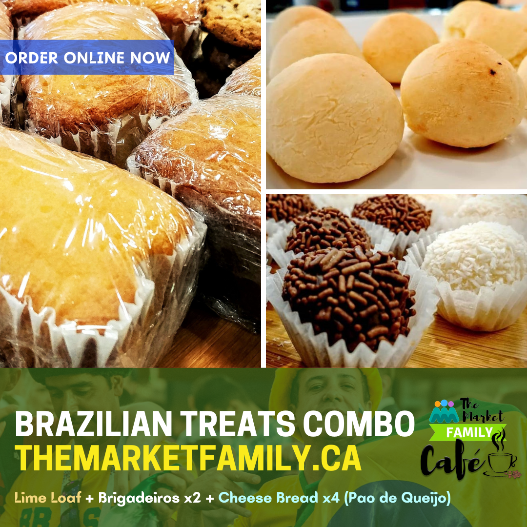 Brazilian Treats Combo: Cheese Bread x4 + Mini Loaf + Brigadeiros x2