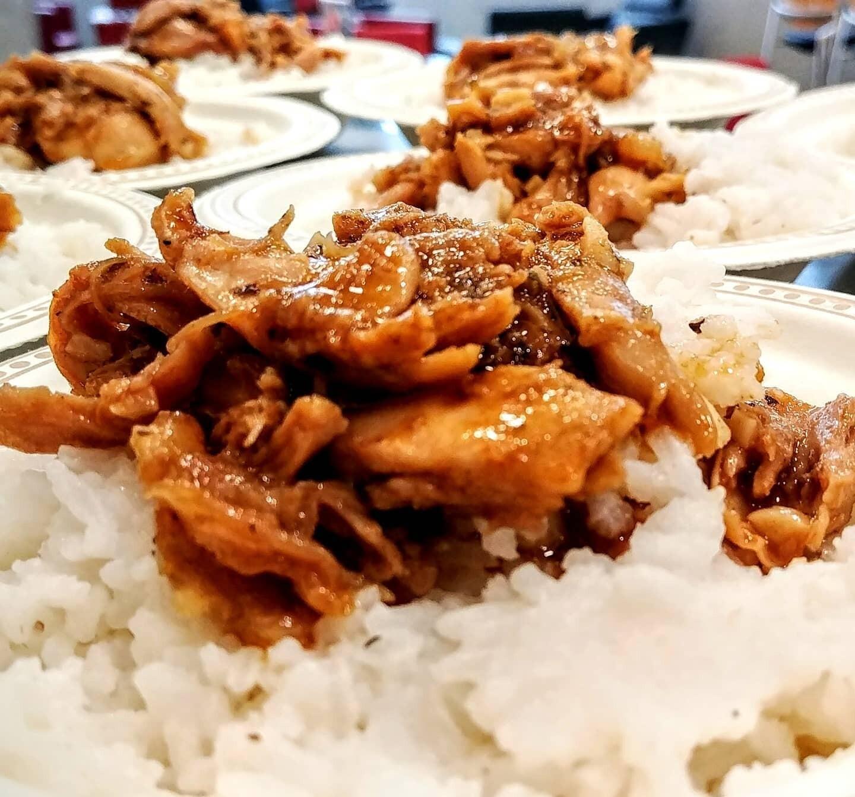 Orange Chicken w/Rice or Hash Browns - 12Oz cup