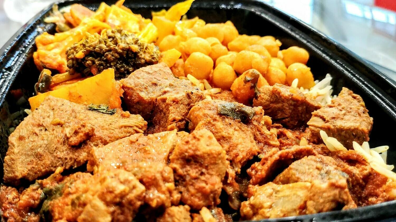 Fatima's Indian Food - Lamb Curry Combo