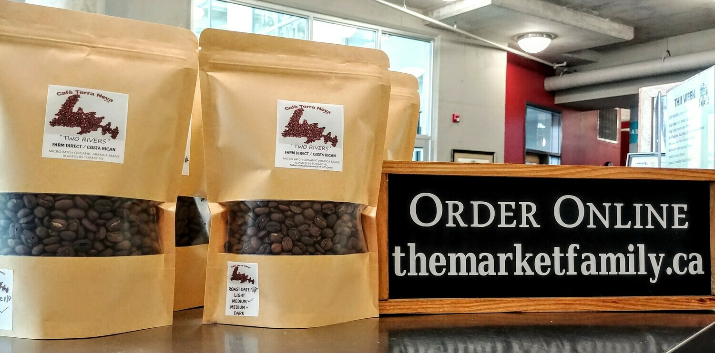 Coffee Beans - Two Rivers - Farm Direct Costa Rica - Medium Roast - Cafe Terranova - Torbay