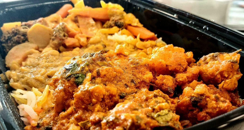 Fatima's Indian Food - Cod Fish Curry Combo