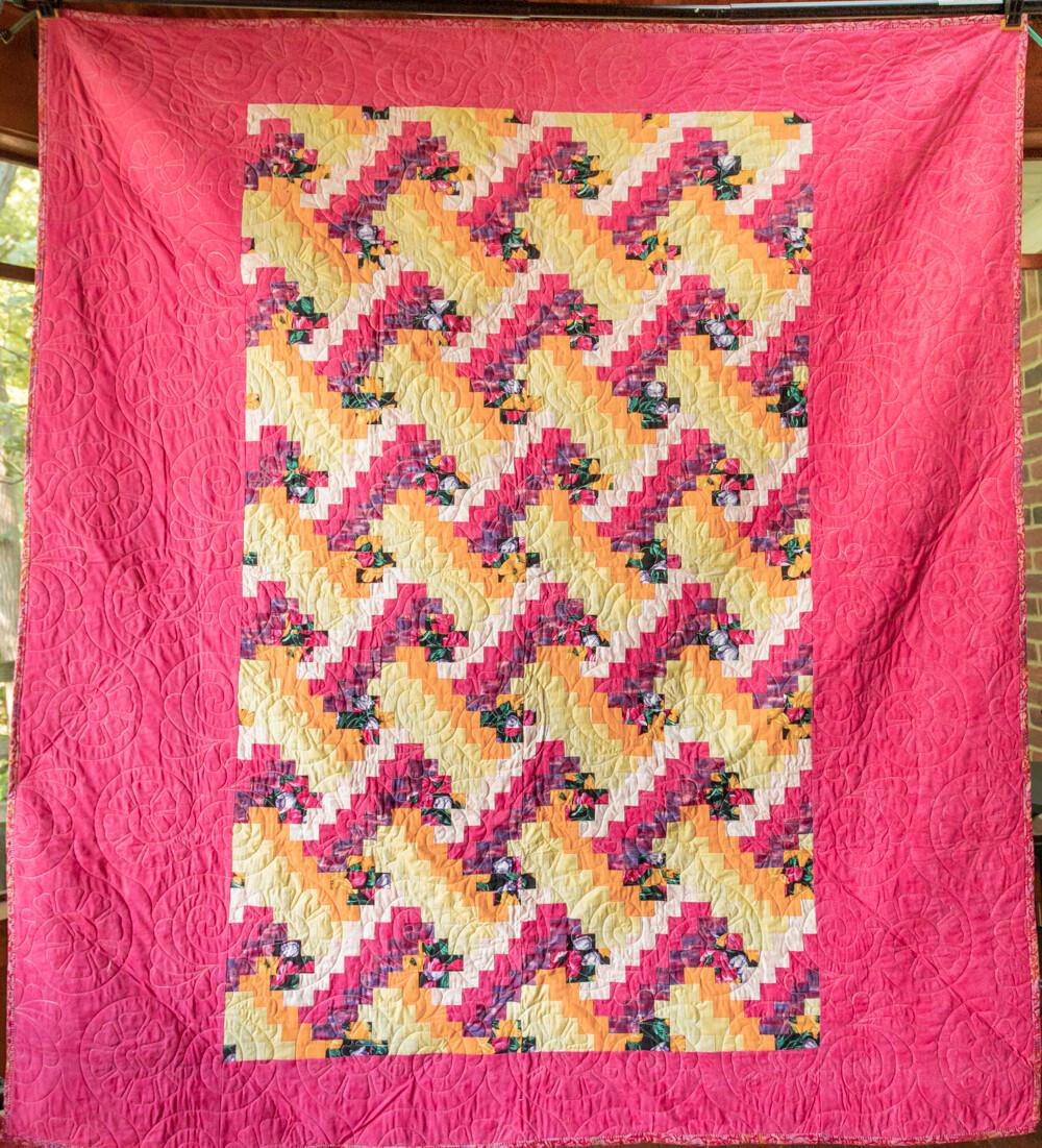 Quilt #07 - Pink Bargello