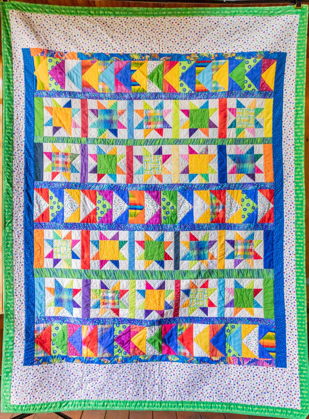 Quilt #09 - Madras Stars
