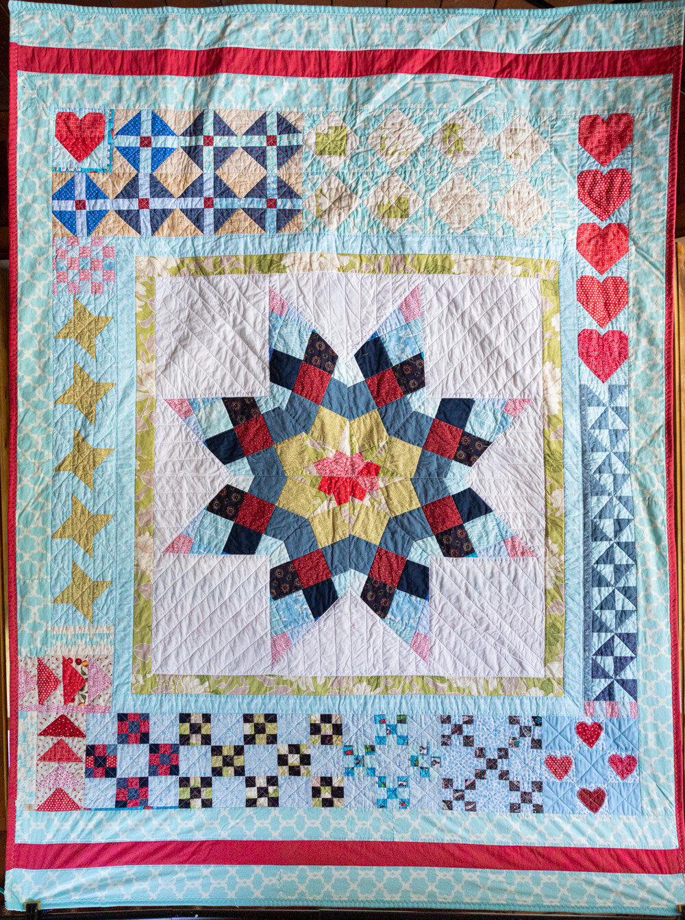 Quilt #11 - Winter Snowflake