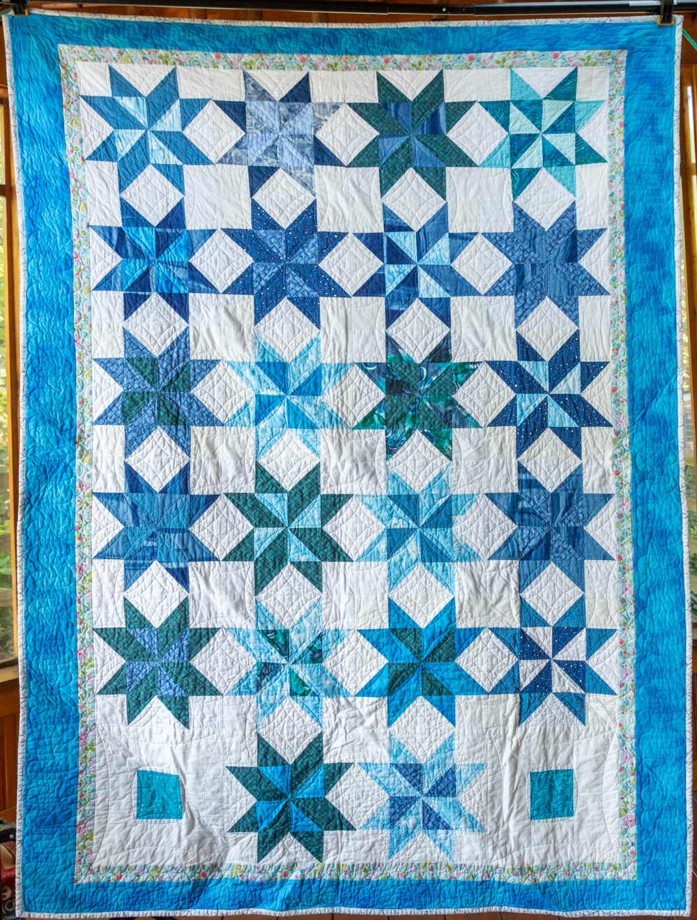 Quilt #20 - Blue Stars