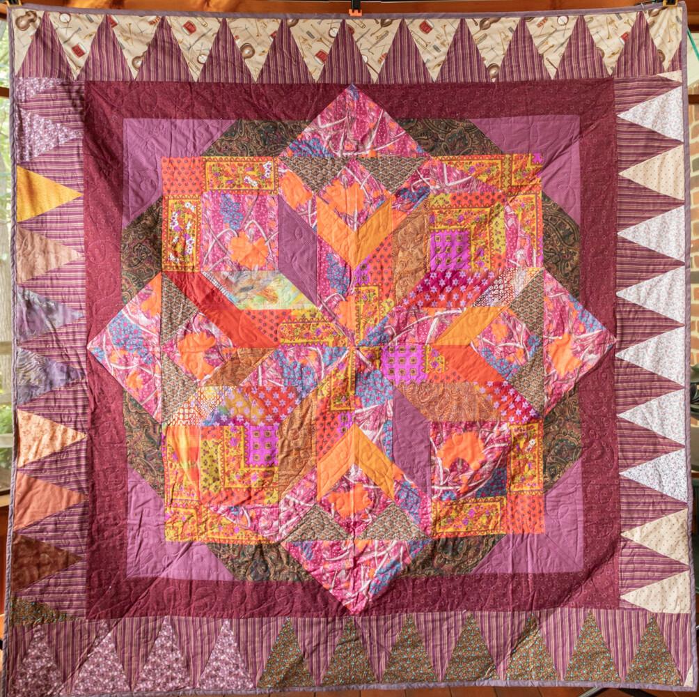 Quilt #32 - Mauve Star