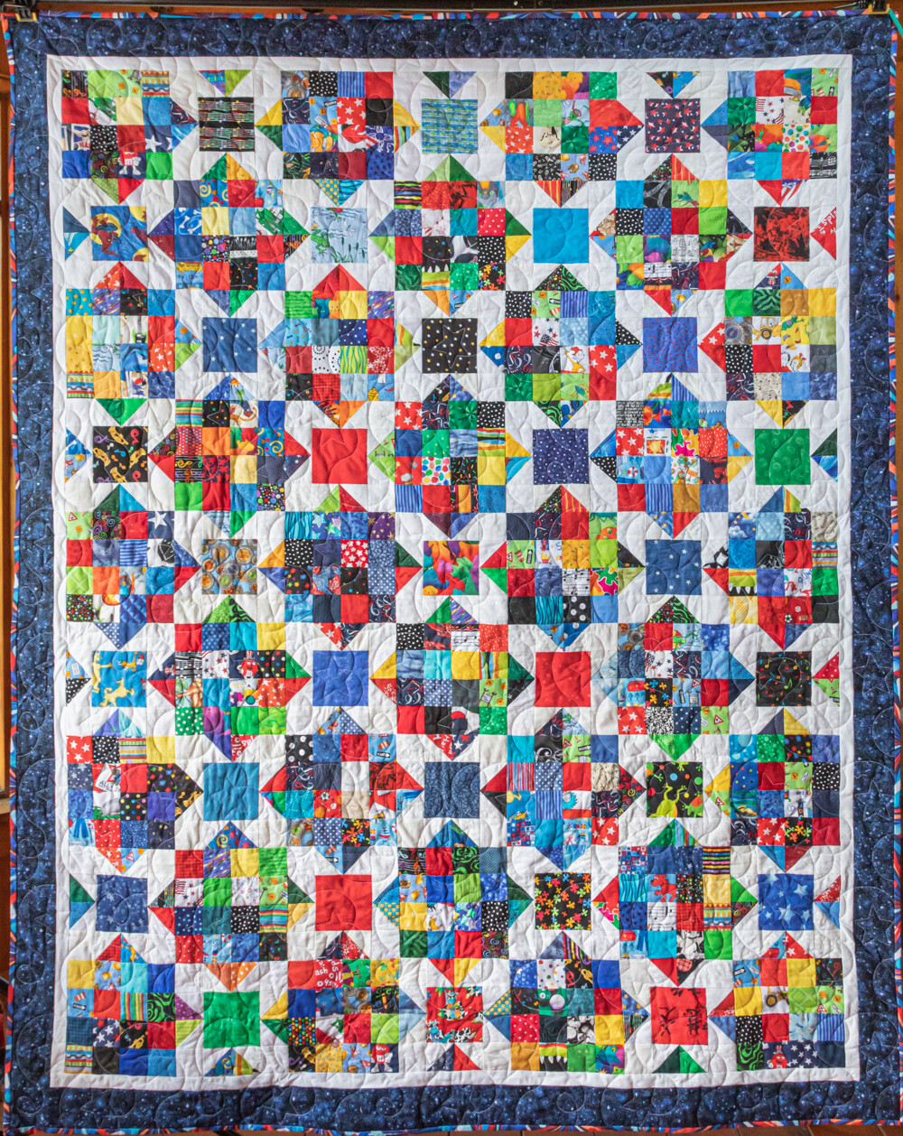 Quilt #34 - Scrap Stars - pastel