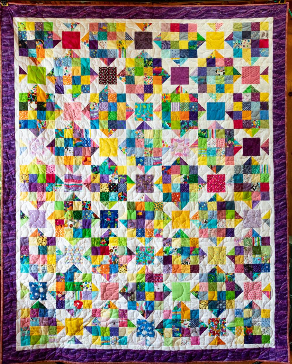 Quilt #45 - Scrap Stars - primary