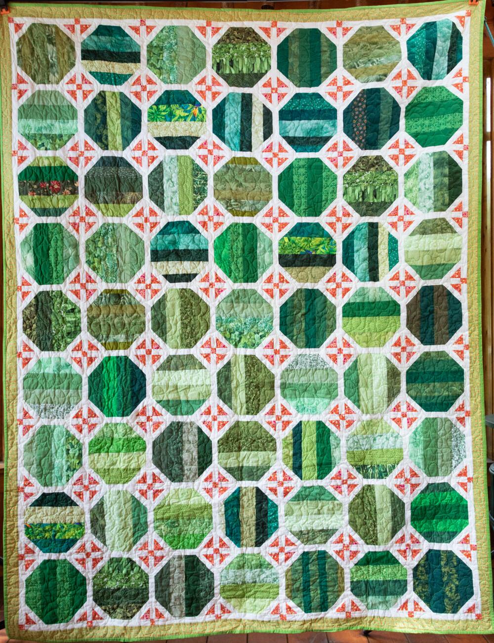 Quilt #61 - Green Circles