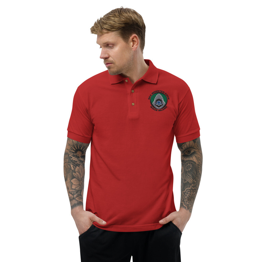 Snowflake SMC (Black Letters) Embroidered Polo Shirt