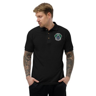 Snowflake SMC (White Letters) Embroidered Polo Shirt