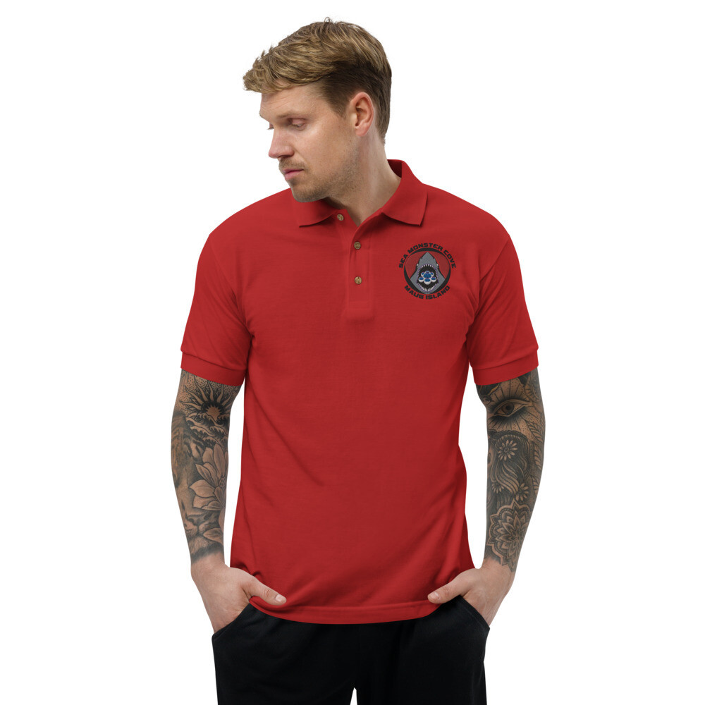 Layla SMC (Black Letters) Embroidered Polo Shirt